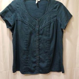 St. John's Bay blouse Size XL